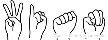 Wian in Fingersprache für Gehörlose