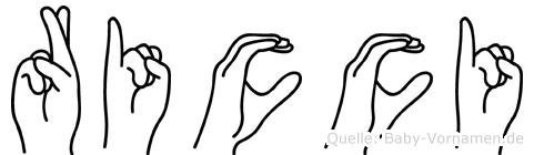 Ricci im Fingeralphabet der Deutschen Gebärdensprache