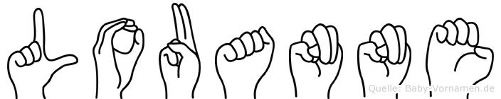 Louanne in Fingersprache für Gehörlose