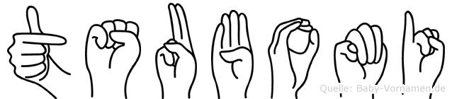 Tsubomi in Fingersprache für Gehörlose