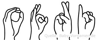 Ofri in Fingersprache für Gehörlose
