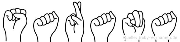 Sarana in Fingersprache für Gehörlose