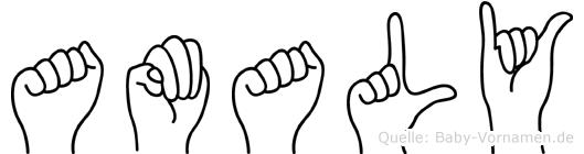 Amaly im Fingeralphabet der Deutschen Gebärdensprache