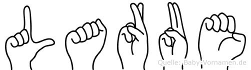 Larue im Fingeralphabet der Deutschen Gebärdensprache