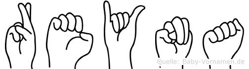 Reyna im Fingeralphabet der Deutschen Gebärdensprache