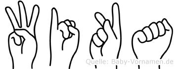 Wika im Fingeralphabet der Deutschen Gebärdensprache