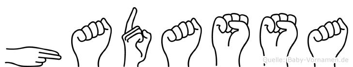 Hadassa in Fingersprache für Gehörlose