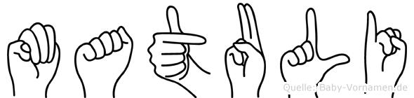 Matuli in Fingersprache für Gehörlose