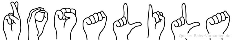 Rosalila in Fingersprache für Gehörlose