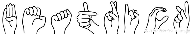 Beatrick in Fingersprache für Gehörlose