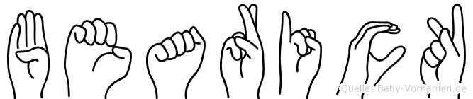Bearick in Fingersprache für Gehörlose