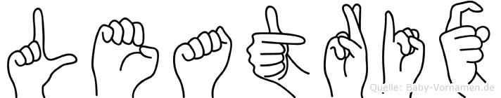 Leatrix in Fingersprache für Gehörlose