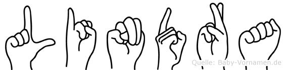 Lindra im Fingeralphabet der Deutschen Gebärdensprache