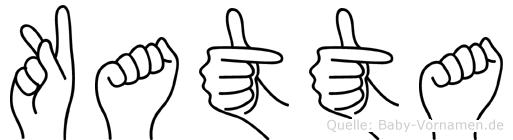 Katta im Fingeralphabet der Deutschen Gebärdensprache