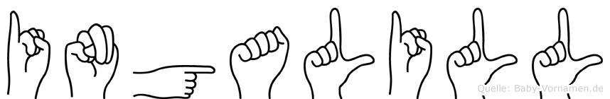 Ingalill in Fingersprache für Gehörlose