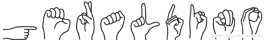 Geraldino im Fingeralphabet der Deutschen Gebärdensprache