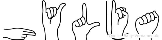 Hylja in Fingersprache für Gehörlose