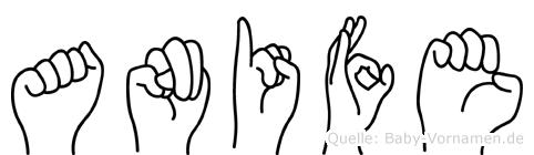 Anife in Fingersprache für Gehörlose