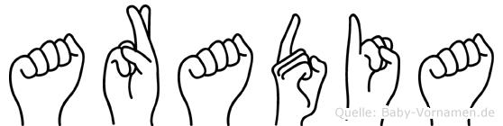 Aradia in Fingersprache für Gehörlose