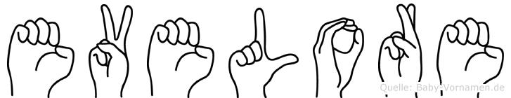 Evelore in Fingersprache für Gehörlose