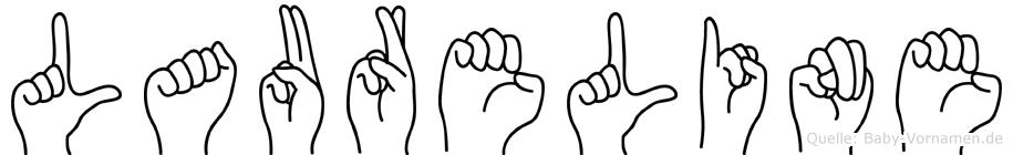 Laureline im Fingeralphabet der Deutschen Gebärdensprache