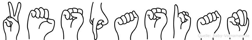Vespasian im Fingeralphabet der Deutschen Gebärdensprache