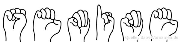 Semine in Fingersprache für Gehörlose