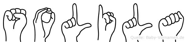 Solila im Fingeralphabet der Deutschen Gebärdensprache