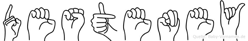 Desteney im Fingeralphabet der Deutschen Gebärdensprache