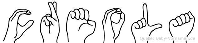 Creola in Fingersprache für Gehörlose