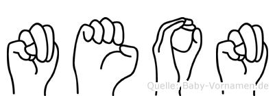 Neon in Fingersprache für Gehörlose