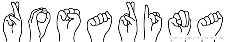 Rosarina im Fingeralphabet der Deutschen Gebärdensprache