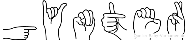 Gynter im Fingeralphabet der Deutschen Gebärdensprache