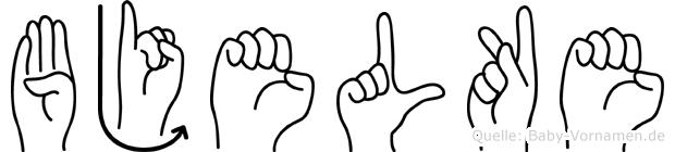Bjelke in Fingersprache für Gehörlose
