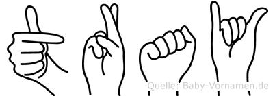 Tray in Fingersprache für Gehörlose