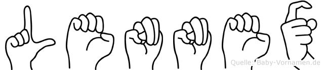 Lennex in Fingersprache für Gehörlose