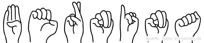 Bernina in Fingersprache für Gehörlose