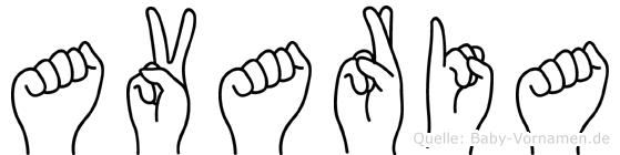 Avaria in Fingersprache für Gehörlose