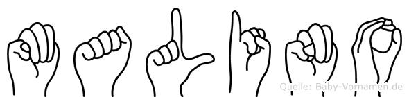 Malino in Fingersprache für Gehörlose