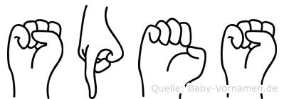 Spes in Fingersprache für Gehörlose