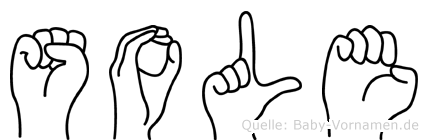 Sole im Fingeralphabet der Deutschen Gebärdensprache