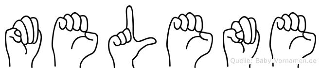 Melene in Fingersprache für Gehörlose
