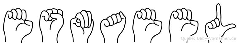 Esmaeel im Fingeralphabet der Deutschen Gebärdensprache