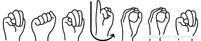 Namjoon in Fingersprache für Gehörlose