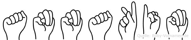 Annakim im Fingeralphabet der Deutschen Gebärdensprache