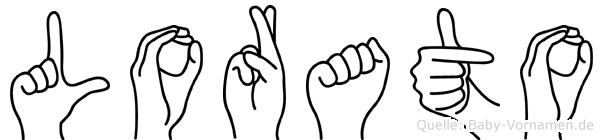 Lorato im Fingeralphabet der Deutschen Gebärdensprache