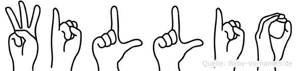 Willio in Fingersprache für Gehörlose