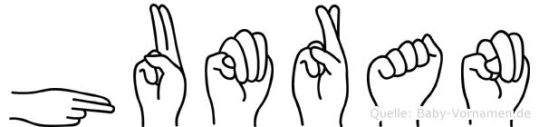 Humran in Fingersprache für Gehörlose
