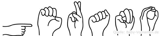 Gerano in Fingersprache für Gehörlose