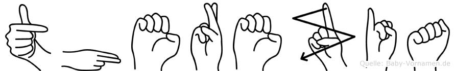 Therezia im Fingeralphabet der Deutschen Gebärdensprache